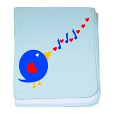 Cute Love Bird baby blanket