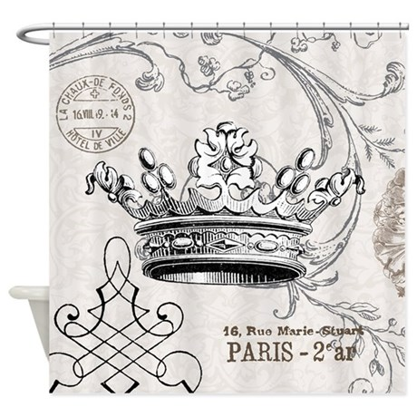 Vintage Crown Shower Curtain by DesignsbyHeatherMyers1
