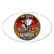 US Navy Seabees Gold Lava Glow Decal