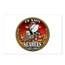 US Navy Seabees Gold Lava Glow Postcards (Package