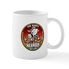 US Navy Seabees Gold Lava Glow Mug