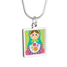 Square Matryoshka Necklaces