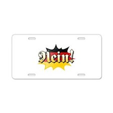 nein.tif Aluminum License Plate