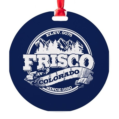 Frisco Old Circle Round Ornament