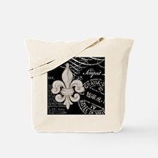 Vintage Fleur de Lis Tote Bag