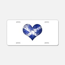 Scottish heart Aluminum License Plate