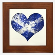 Scottish heart Framed Tile