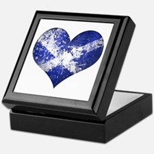 Scottish heart Keepsake Box