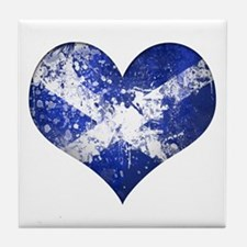 Scottish heart Tile Coaster