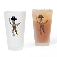 Pirate Robot Drinking Glass