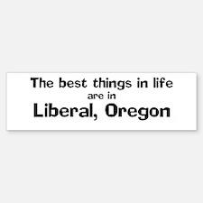 Liberal: Best Things Bumper Bumper Bumper Sticker