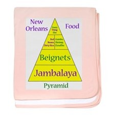 New Orleans Food Pyramid Baby Blanket