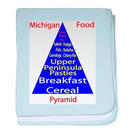 Michigan Food Pyramid Baby Blanket
