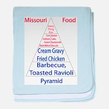 Missouri Food Pyramid Baby Blanket