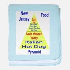 New Jersey Food Pyramid Baby Blanket