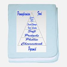 Pennsylvanian Food Pyramid Baby Blanket