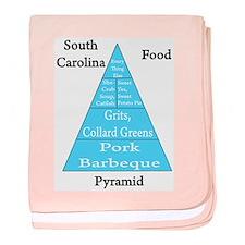 South Carolina Food Pyramid Baby Blanket