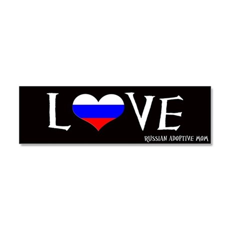 Love Logo Car Magnet 10 x 3