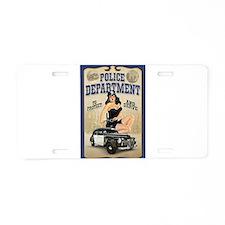 Police Department Aluminum License Plate