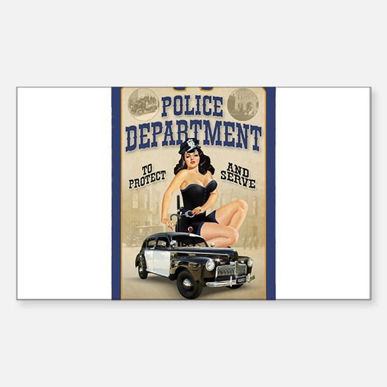 Police Department Sticker (Rectangle)