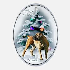 Boerboel Christmas Ornament (Oval)