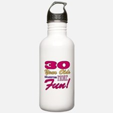 Fun 30th Birthday Gifts Water Bottle