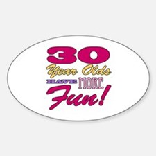 Fun 30th Birthday Gifts Decal