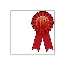 "1st Place Ribbon Square Sticker 3"" x 3"""
