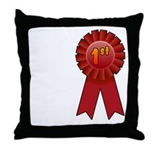 1st Place Ribbon Throw Pillow