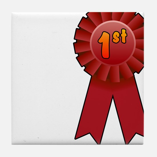 1st Place Ribbon Tile Coaster
