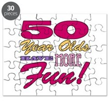 Fun 50th Birthday Gifts Puzzle