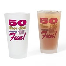 Fun 50th Birthday Gifts Drinking Glass