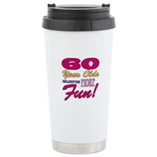 Fun 60th Birthday Gifts Travel Mug