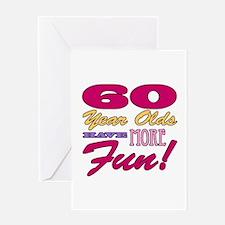 Fun 60th Birthday Gifts Greeting Card