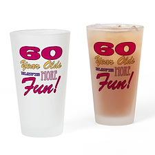 Fun 60th Birthday Gifts Drinking Glass