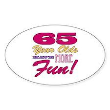 Fun 65th Birthday Gifts Decal