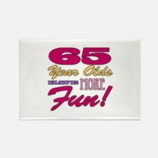 Fun 65th Birthday Gifts Rectangle Magnet
