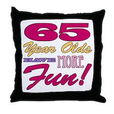 Fun 65th Birthday Gifts Throw Pillow