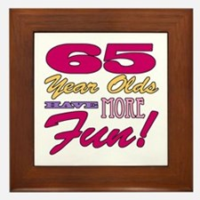 Fun 65th Birthday Gifts Framed Tile