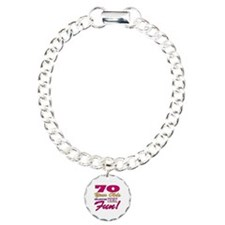 Fun 70th Birthday Gifts Bracelet