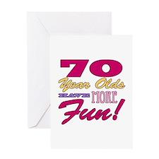 Fun 70th Birthday Gifts Greeting Card