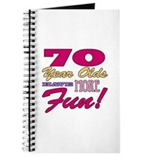 Fun 70th Birthday Gifts Journal