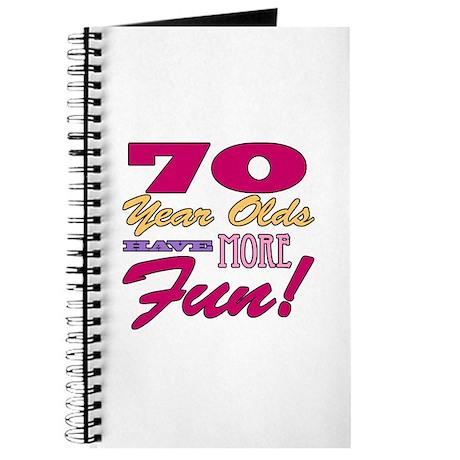 Fun 70th Birthday Gifts Journal