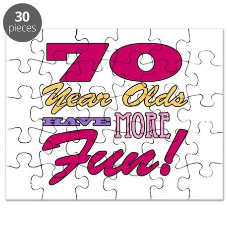 Fun 70th Birthday Gifts Puzzle