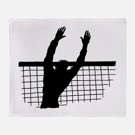Volleyball Block Throw Blanket