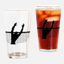Volleyball Block Drinking Glass