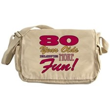 Fun 80th Birthday Gifts Messenger Bag
