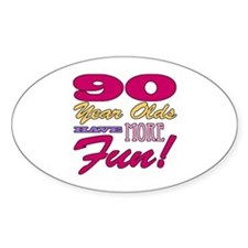 Fun 90th Birthday Gifts Decal