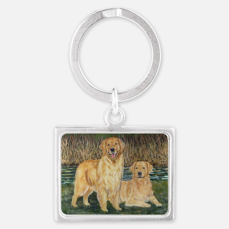 golden marsh pair.png Landscape Keychain