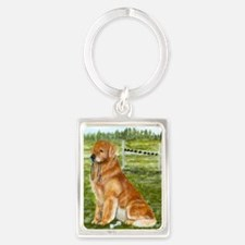 golden obedience.png Portrait Keychain